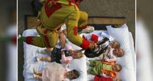القفز فوق الاطفال .. طقوس مهرجانات اسبانيا !!