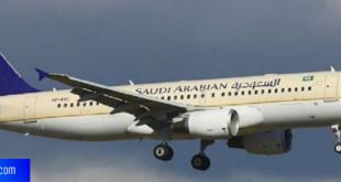 اول رحلة للطيران السعودي الى الخارج