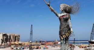 مرفأ بيروت : تمثال أمل من الركام
